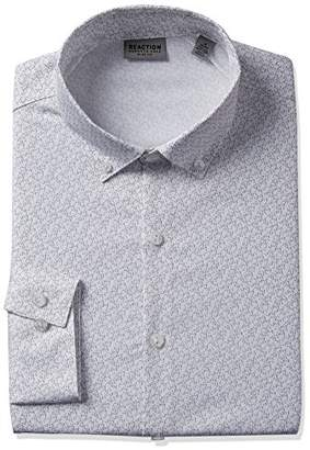 Kenneth Cole Reaction Men's Technicole Slim Fit Dress Shirt
