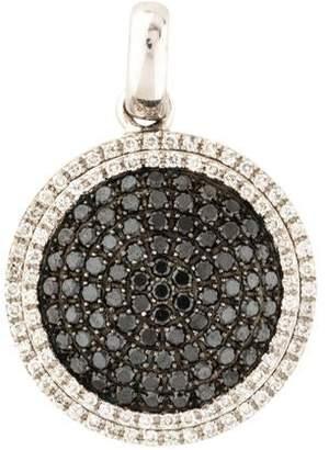 18K Diamond Round Pendant