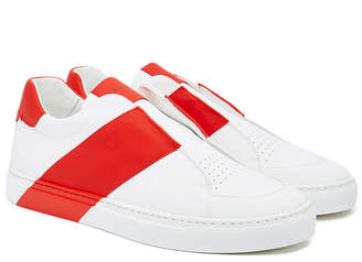 Harry's of London Bolt Tech Leather White & Red Trainer