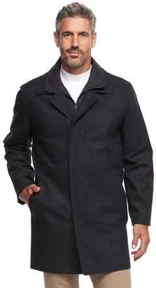 Chaps Men's Herringbone Wool-Blend Top Coat