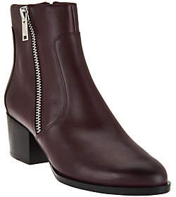 Marc Fisher Leather Zipper Ankle Boots - Blur