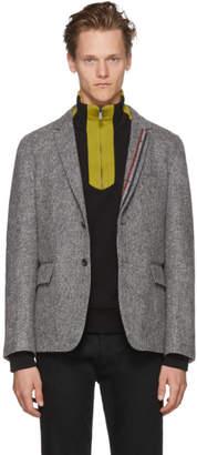 Thom Browne Grey Unconstructed Classic Stripe Blazer