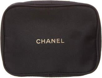 Chanel Black Nylon Cosmetic Pouch