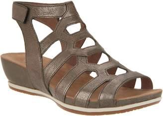 Dansko Leather or Nubuck Cutout Wedge Sandals - Valentina