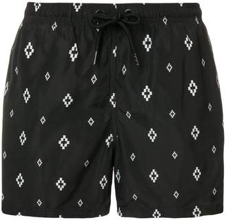 Marcelo Burlon County of Milan logo print swim shorts