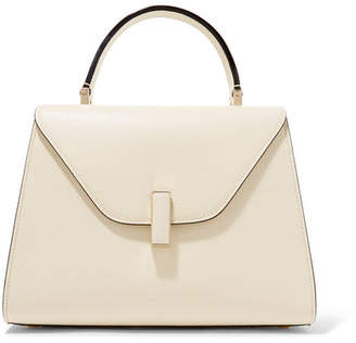 Valextra Iside Medium Textured-leather Shoulder Bag - Cream