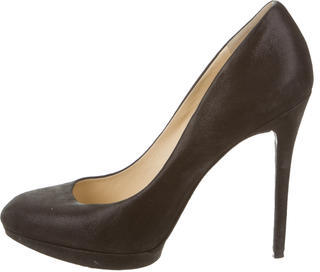 B Brian Atwood Brushed Suede Pointed-Toe Pumps $85 thestylecure.com