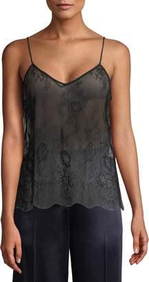 Diane von Furstenberg Women's Sheer Lace Camisole