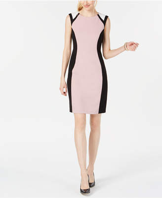 Connected Colorblocked Sheath Dress