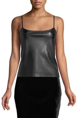 Theory Bedford Faux-Leather Tank Top