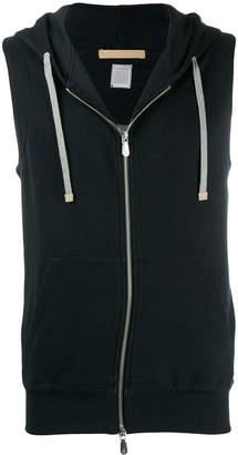 Eleventy sleeveless drawstring hoodie