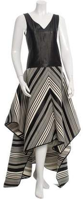 Zero Maria Cornejo Patterned High-Low Dress