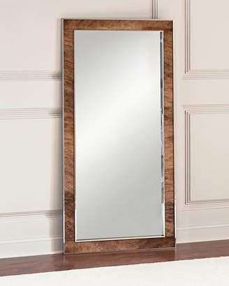 Bernhardt Jody Hairhide Trim Floor Mirror