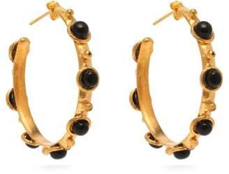 Sylvia Toledano - Onyx Embellished Hoop Earrings - Womens - Black