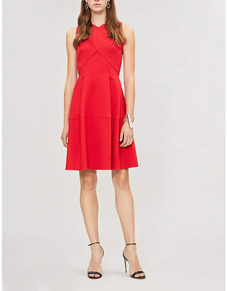 Roland Mouret Ellesfield flared crepe dress