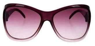 Valentino Strass-Embellished Oversize Sunglasses