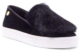 Louise et Cie Fur-Trimmed Slip-On Sneakers