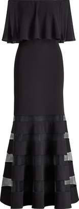 Ralph Lauren Jersey Off-the-Shoulder Gown