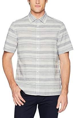 Calvin Klein Jeans Men's Short Sleeve Chambray Button Down Shirt