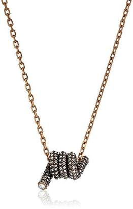 """Marc Jacobs Fall 2016"""" Pave Twisted Pendant Necklace"""