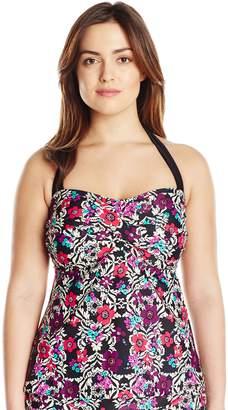 Jessica Simpson Women's Plus-Size It Girl Tankini