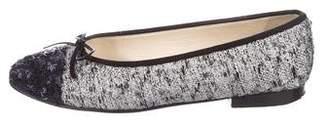 Chanel Embellished Cap-Toe Flats