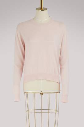 Long sleeves cachemire and cotton pull-over