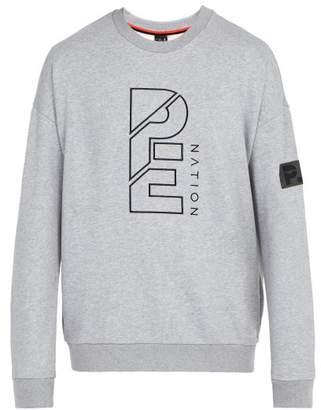 P.E Nation Smash Success Sweat Cotton Sweatshirt - Mens - Grey