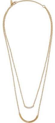 Elizabeth & James Elizabeth And James Woman Twiggy Gold-tone Crystal Necklace Gold Size KxoIDJDM