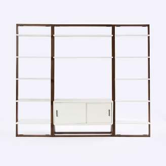 west elm Ladder Shelf Media Console + Shelves Set - Wide
