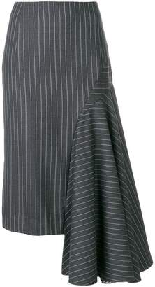 Thom Browne Draped Chalk Stripe Skirt