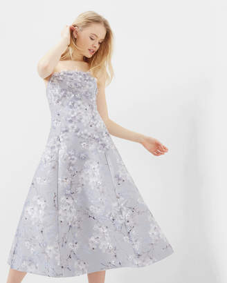Ted Baker SAREH Oriental Blossom applique midi dress