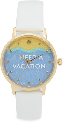 Kate Spade New York I Need a Vacation Metro Watch $195 thestylecure.com