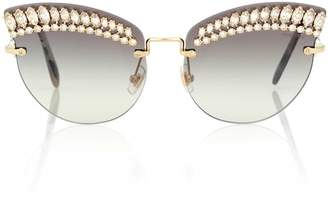 Miu Miu Crystal cat-eye sunglasses