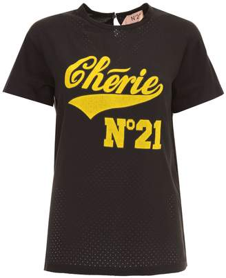 N°21 Cotton And Crepe T-shirt