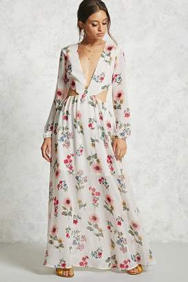 Forever 21 Floral Cutout Maxi Dress