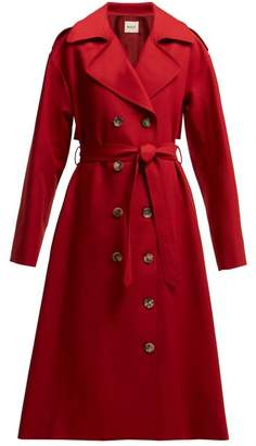 Ralph Lauren Khaite Cotton Twill Trench Coat - Womens - Red