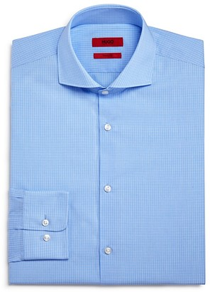 HUGO Mini Check Regular Fit Dress Shirt $95 thestylecure.com