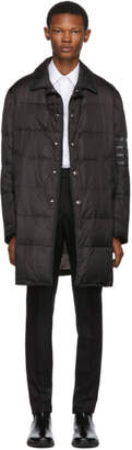 Thom Browne Black Down 4-Bar Classic Bal Collar Coat