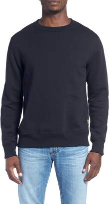 Billy Reid 'Dover' Crewneck Sweatshirt with Leather Elbow Patches