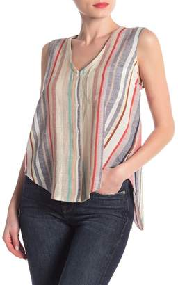 Modern Designer Striped Sleeveless Top