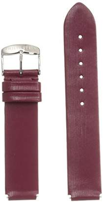 Philip Stein Teslar 1-IBG 18mm Leather Calfskin Red Watch Strap