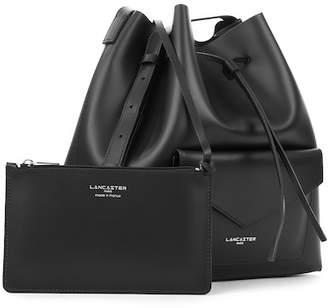 Lancaster Paris Pur Smooth Envelope Leather Bucket Bag