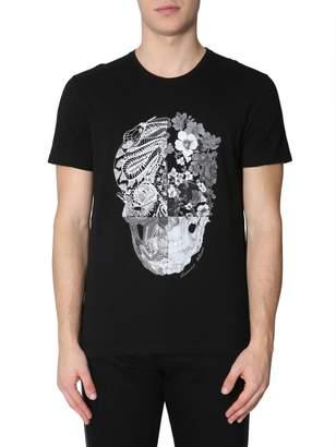 Alexander McQueen Skull Patchwork Print T-Shirt