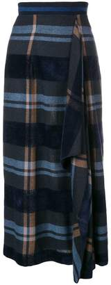 D-Exterior D.Exterior checked midi skirt