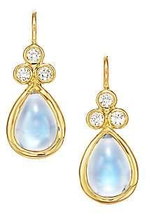 Temple St. Clair Women's Royal Blue Moonstone, Diamond & 18K Yellow Gold Teardrop Earrings