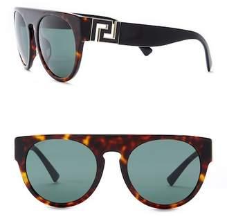 Versace Men's Round 55mm Sunglasses