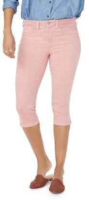 NYDJ Skinny Capri Jeans in Coral Haze
