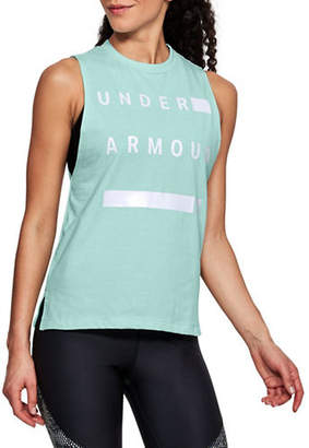 Under Armour Linear Wordmark Muscle Tee