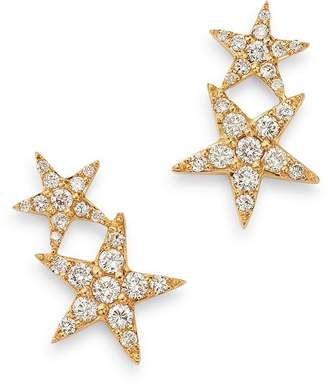 Bloomingdale's Diamond Double Star Ear Climber Earrings in 14K Yellow Gold, 0.35 ct. t.w. - 100% Exclusive
